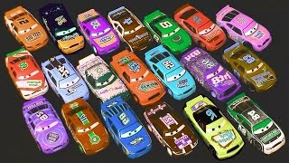 getlinkyoutube.com-Carrinhos Corredores Disney Pixar Cars Racers from Speedway of the South Brinquedos em Portugues