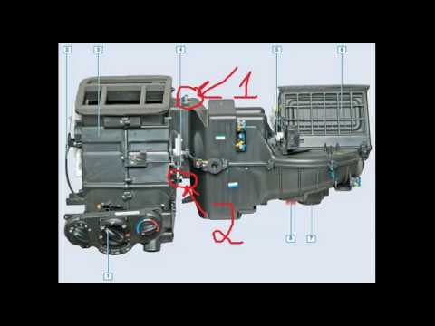 Замена радиатора печки Chevrolet Lacetti. Устанвока климат контроля