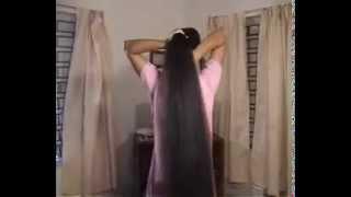 getlinkyoutube.com-Long hair shinny Indian Girl _NEW-