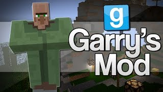 getlinkyoutube.com-TINY HEAD VILLAGERS | Garry's Mod: Minecraft Mods (GMod)