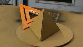 getlinkyoutube.com-Cardboard Tetrahedron Pyramid Perfect Circle Solar How to make a pyramid out of cardboard