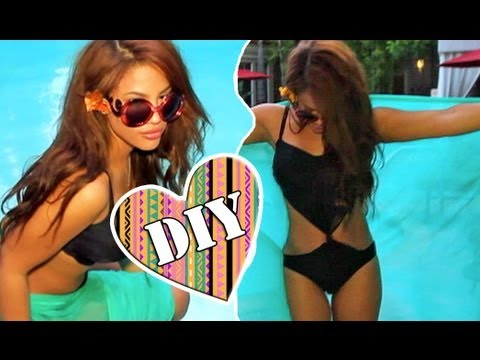 DIY: Easy Monokini Bathing Suit! (NO-SEW)