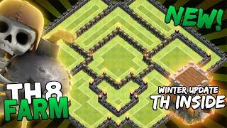 getlinkyoutube.com-Th8 farming base - Winter Update | Hybrid Base (TH11 UPDATE)