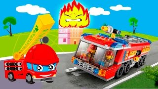 getlinkyoutube.com-Мультики про машинки все серии подряд Пожарные машины в видео для детей. Сборник лучших мультфильмов