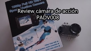 review cámara de acción padv008 - 1080p, 720p 60fps y wifi (alternativa go pro)