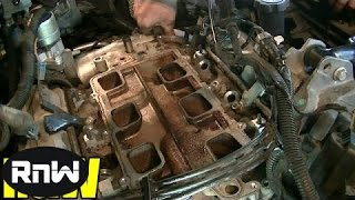 getlinkyoutube.com-Chevy 3.8L Upper + Lower Intake Manifold Gasket and Tensioner Replacement Part 2