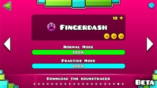 "getlinkyoutube.com-Geometry Dash - ""Fingerdash"" (BETA) 100% Complete [All Coins] 