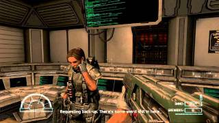 getlinkyoutube.com-Aliens vs Predator 3 Walkthrough Part 1 Marine Nightmare mission 1 Max Detail HD