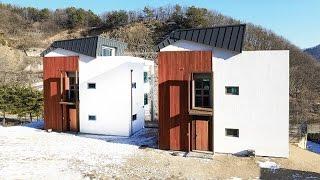 getlinkyoutube.com-[전원주택라이프] 전원주택, 모던과 빈티지의 만남│남양주 철근 콘크리트 주택_크리스티
