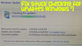 getlinkyoutube.com-How to fix Windows 7 stuck on checking for updates!