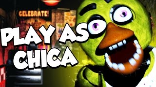 PLAY AS ALL VERSIONS OF CHICA || FNAF Chica Simulator (Five Nights at Freddys)