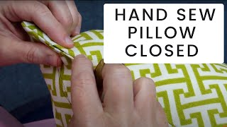 getlinkyoutube.com-How To Hand Sew A Pillow Closed