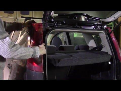 Снятие заднего фонаря Nissan Note