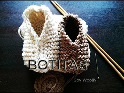 Patrón para tejer botitas, patucos, zapatitos, escarpines fácil y rápido