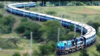 getlinkyoutube.com-The Most Beautiful SNAKE CURVE : Indian Railways S-Curve
