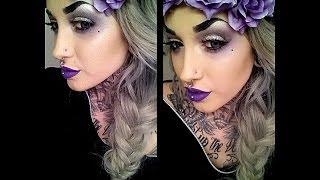 getlinkyoutube.com-Alternative Hippy   Smoked Purple Makeup Tutorial