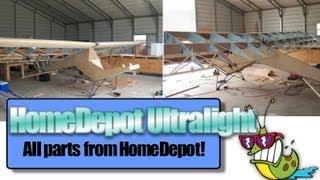 getlinkyoutube.com-Home Depot ultralight aircraft, Jack Harper and his HomeDepot plans built ultralight aircraft kit!