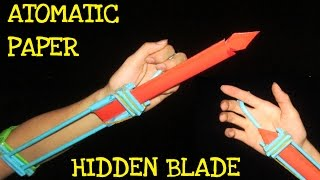 getlinkyoutube.com-How to make an Automatic Hidden Blade from Paper l Assassins Creed