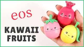getlinkyoutube.com-DIY eos Lip Balm | Kawaii Fruits eos | eos Tutorial