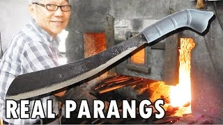 getlinkyoutube.com-How blacksmiths make parang machetes in Malaysia