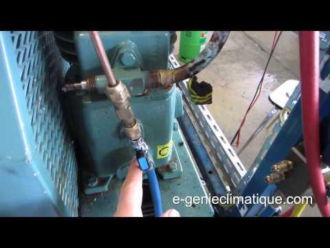 Froid23-Changement pressostat BP avec charge en fluide dans l'installation.