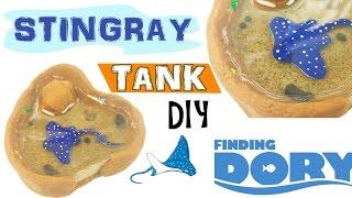 getlinkyoutube.com-MINI STINGRAY TANK FINDING DORY Polymer Clay & Resin Tutorial