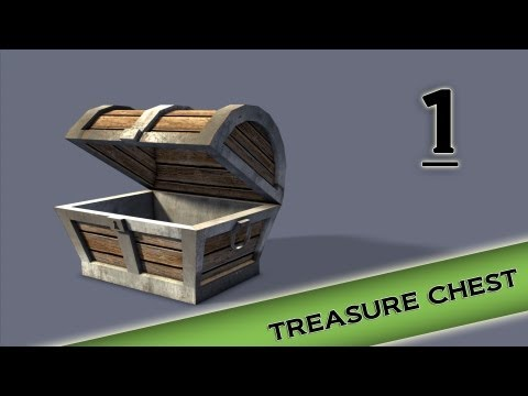 Autodesk Maya 2013 Tutorial - Treasure Chest Modeling, Texturing, lighting Part 1