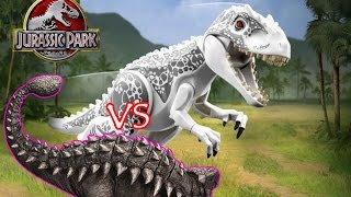 getlinkyoutube.com-Lego Jurassic World: [Indominus Rex vs Ankylosaurus] Boss Battle Jurassic World
