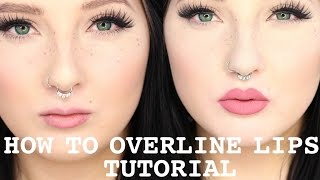 getlinkyoutube.com-Overline Lips Tutorial | Kylie Jenner Lips | Jordan Hanz
