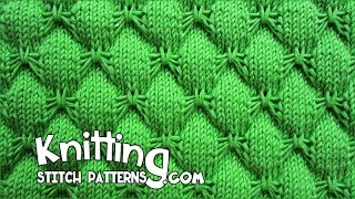 getlinkyoutube.com-Butterfly stitch - KNITTING