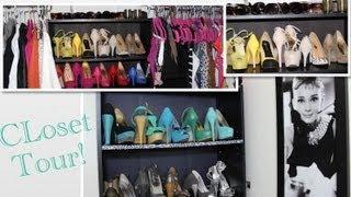 getlinkyoutube.com-Closet Tour, mis zapatos, carteras. Colab BayGlamourzval