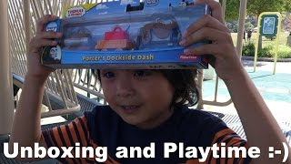 getlinkyoutube.com-Thomas & Friends: Unboxing Porter's Dockside Dash Take N Play Train