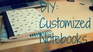getlinkyoutube.com-DIY Customized Notebooks || Back to School