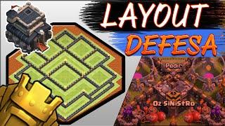 getlinkyoutube.com-Layout CV9 Push Troll - Defesa - Clash of Clans