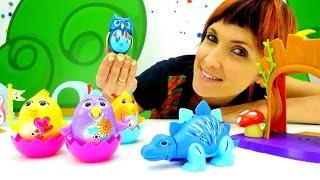 getlinkyoutube.com-Игры для детей с Машей Капуки Кануки! Видео с игрушками DigiBirds. Поющие Птички и Динозавры