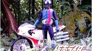 コマ撮りで仮面ライダーその2 仮面ライダー2号誕生の巻き