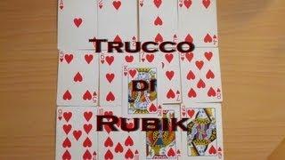 getlinkyoutube.com-TUTORIAL trucco del mazzo di RUBIK - cubo di rubik con le carte - magia illusionismo svelato