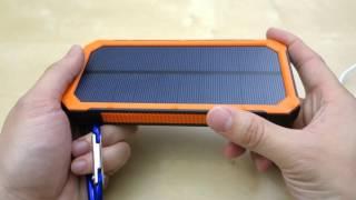 getlinkyoutube.com-Bienna 30000mAh Solar Chargers External Battery Pack REVIEW
