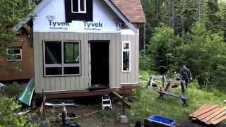 getlinkyoutube.com-Wilderness Off Grid Cabin - Building Deck