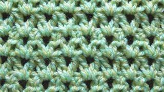getlinkyoutube.com-長編み模様の編み方 5【かぎ針編み】 How to double crochet pattern
