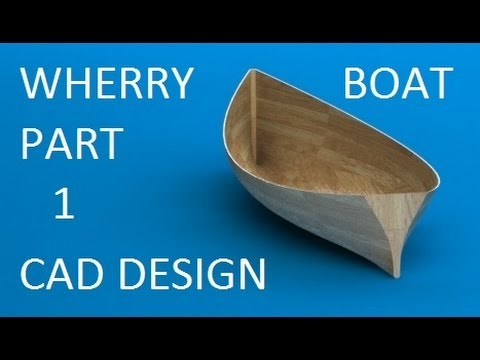 Wooden Boat Project: Designing the half hull model in Solidworks
