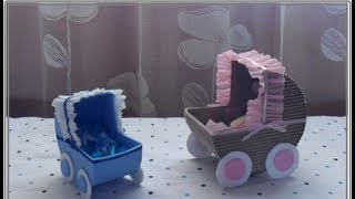 getlinkyoutube.com-[Baby Shower] Carreolita con dulces||DECORACIÓN