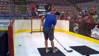 getlinkyoutube.com-Jan Mursak Detroit Red Wings playing fastest slap shot game