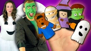 getlinkyoutube.com-Halloween Finger Family Song | Monster Finger Family Nursery Rhymes