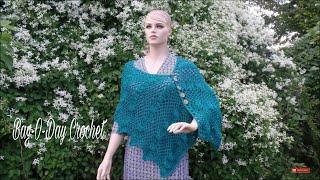 getlinkyoutube.com-CROCHET How To #Crochet Ladies Lacy Shells Shawl Wrap  #TUTORIAL #332
