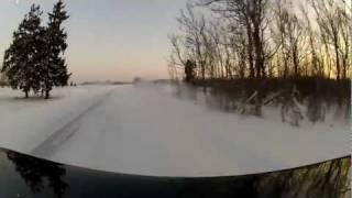 getlinkyoutube.com-Volvo 940 snow drift crash