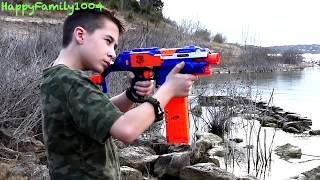 getlinkyoutube.com-Nerf War: Zombies Attack - BATTLE AT THE DAM! Part 21