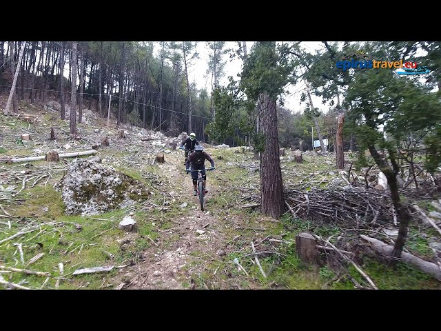 Mountain bike in Zaloggo drone flight