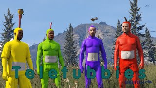 getlinkyoutube.com-Teletubbies recreated in GTA V