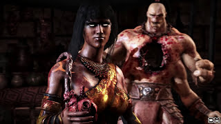 getlinkyoutube.com-Mortal Kombat X Tanya Edenian Drill Fatality on All Characters